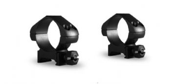 Hawke 30mm Steel Precision Weaver/Picatinny Rifle Scope Mount Rings - MEDIUM 23006